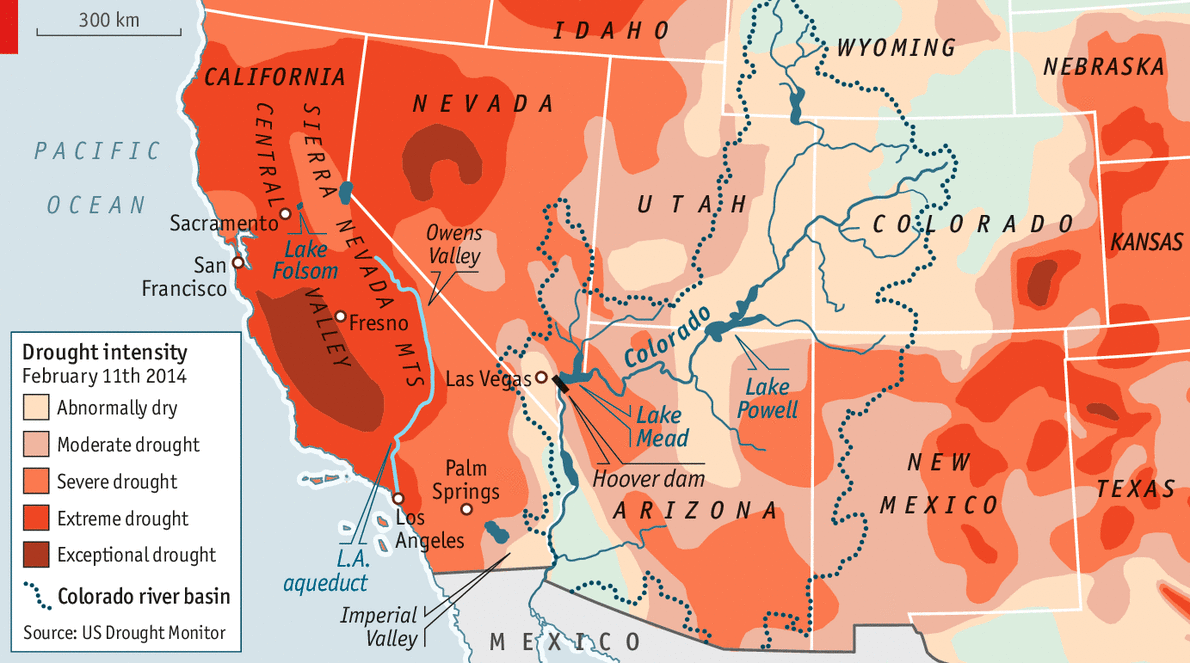 The Drying Of The West Water - Map of deserts in the us
