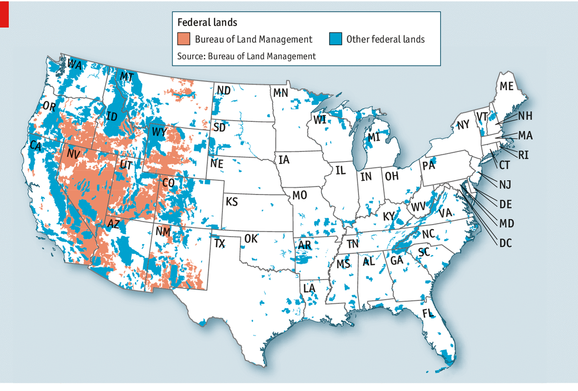 Cowboys V Feds - Map of us cattle ranches