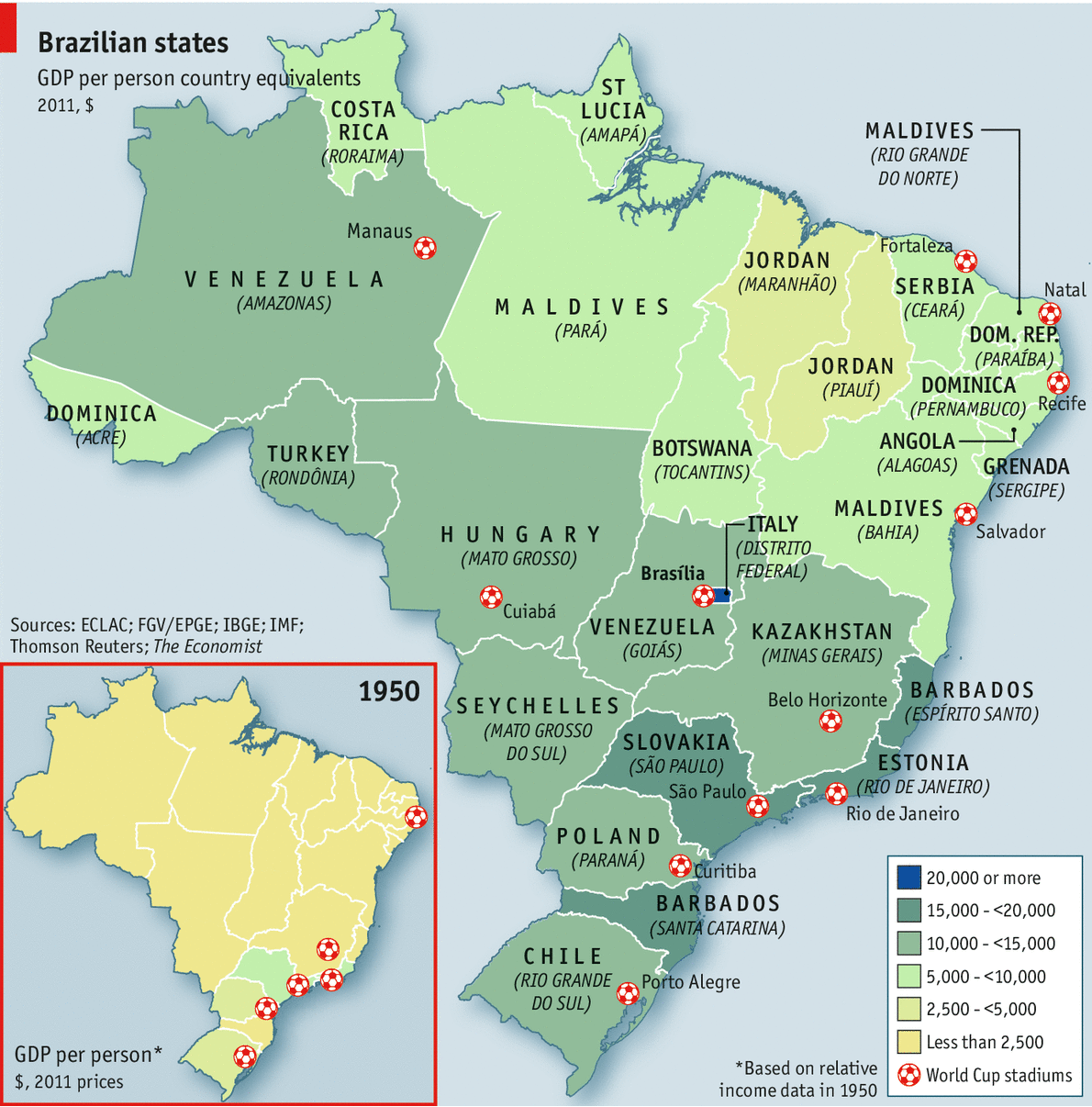 Welcome To Italordan Comparing Brazils States - Brazil states map