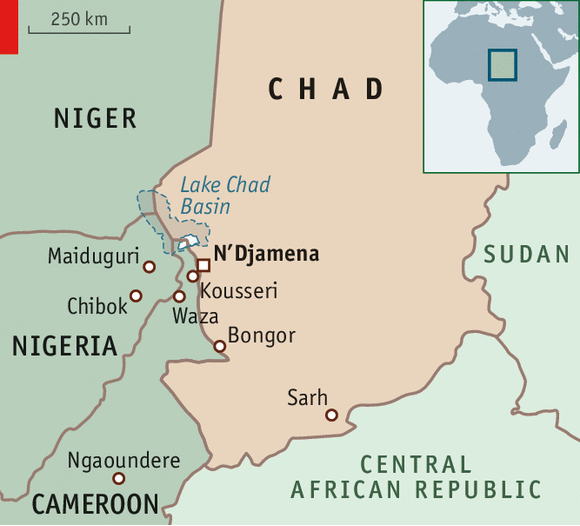 chad west africa map