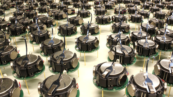 The march of the kilobots
