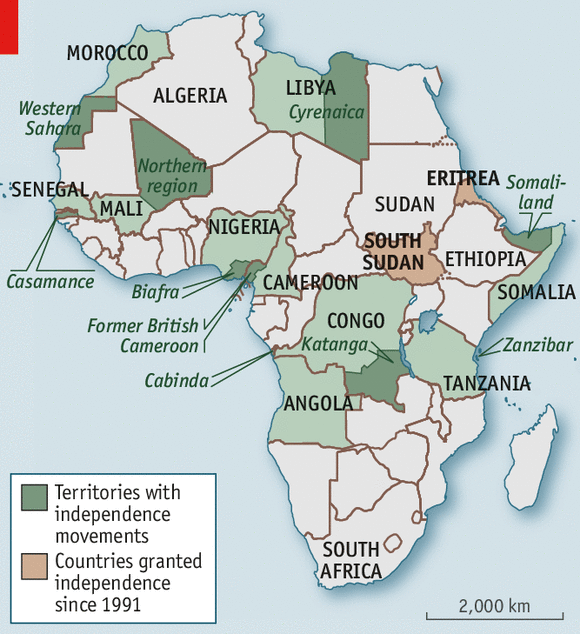 Why Cant We Do It Peacefully - What does this map tells us about african independence