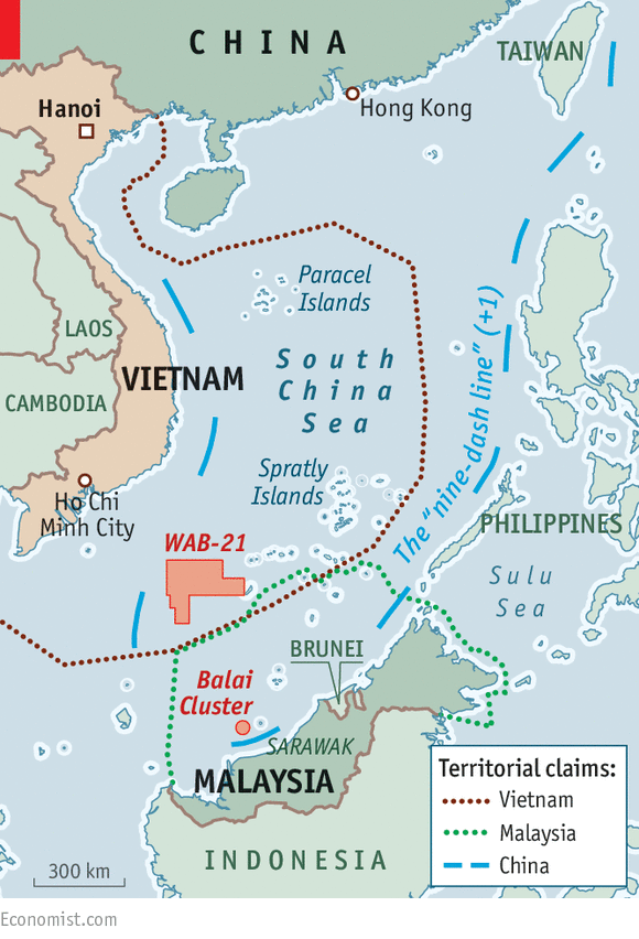 Oil on troubled waters The South China Sea