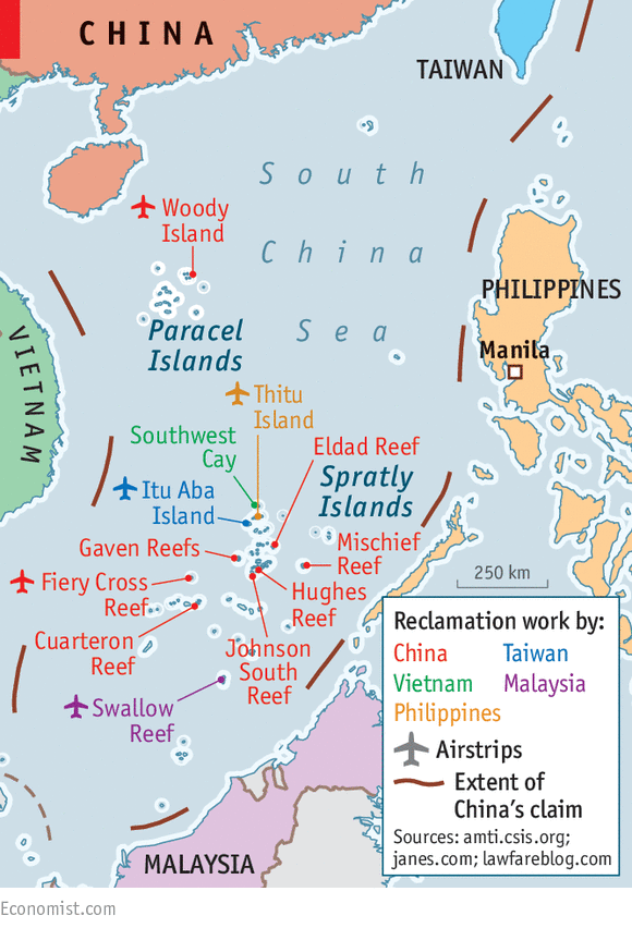 Reclamation marks - Construction in the South China Sea