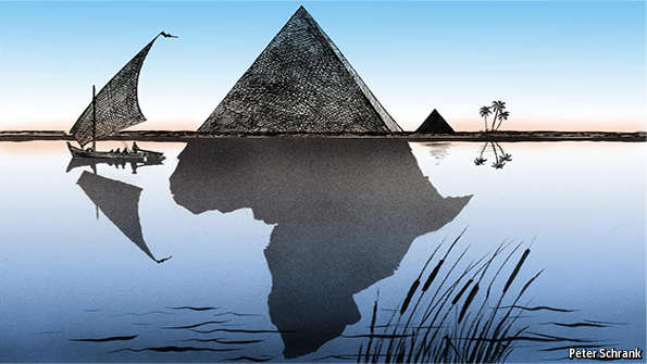 Looking Up The Nile Egypt And Africa - Is egypt in africa