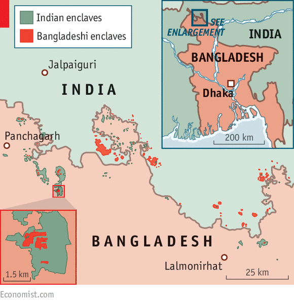 Mapped out  Bangladesh and India