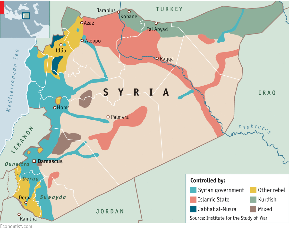 Drawing In The Neighbours Syrias Conflict - Map of syria and turkey
