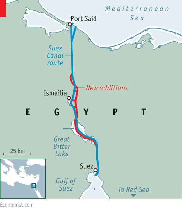 A bigger better suez canal egypt print edition middle east and africa gumiabroncs Image collections