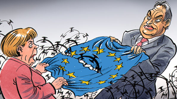 Afbeeldingsresultaat voor Orban and the EU cartoon