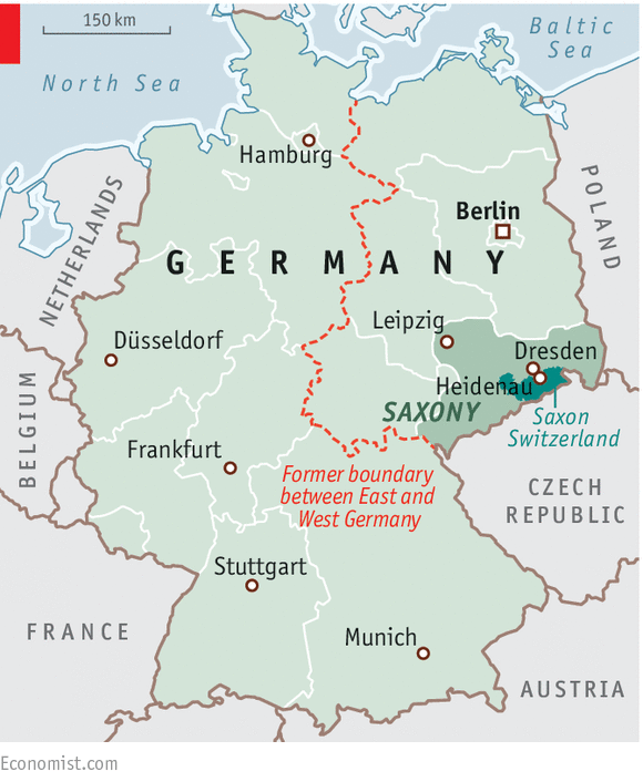 The Trouble With Saxony Germany United - Germany map 2015