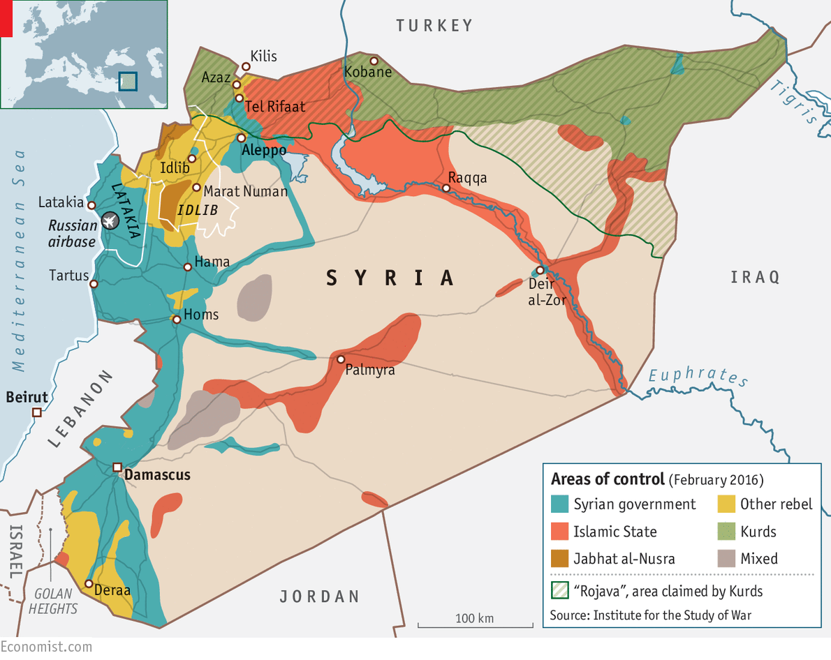 El resultado de la imagen para el mapa de Siria fue atacado desde los Estados Unidos.