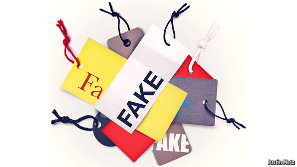 ce29a3064 Holders of intellectual-property rights argue that fakery discourages  innovation