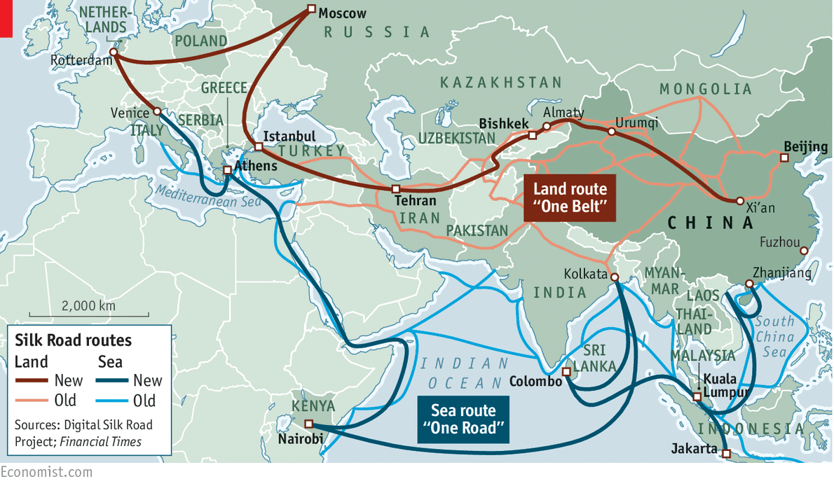 Our Bulldozers Our Rules - Us new silk road map