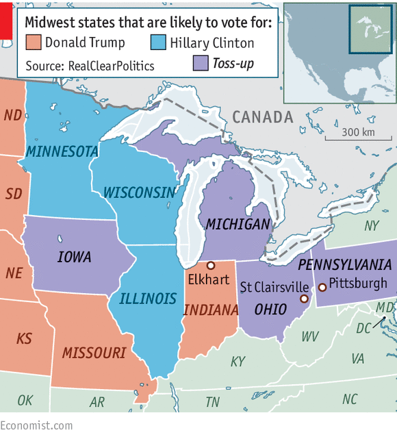 FileLeading Presidential Candidate By State Obama Romneysvg - Us map midwest states