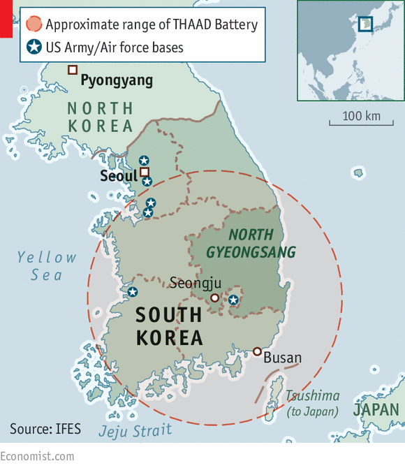 south korea has tried to quell panic by measuring what waves are emitted from its existing anti missile systems as well as from a thaad battery at an