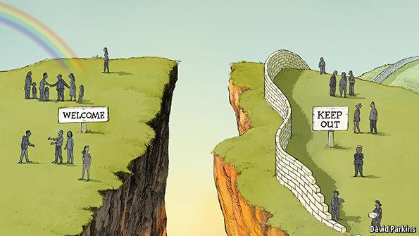 Image result for cartoons of political divide between republicans and democrats