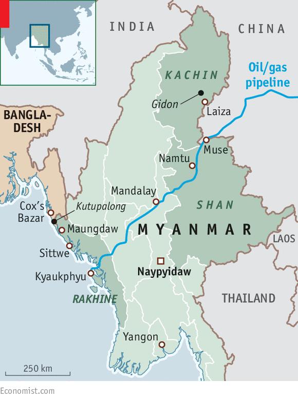 Burma Political Map.Aung San Suu Kyi Fails To Calm Myanmar S Ethnic Violence A Peace