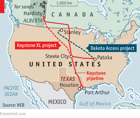 Donald Trump Backs Two Big Oil Pipelines Steeling For A Fight - Map of us oil pipelines