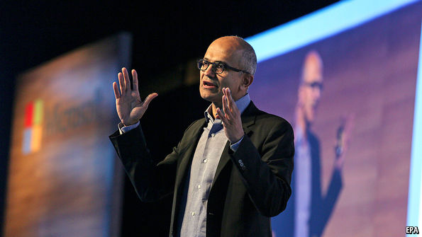 what satya nadella did at microsoft head in the cloud