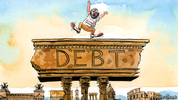 Image result for collapse in italy cartoon