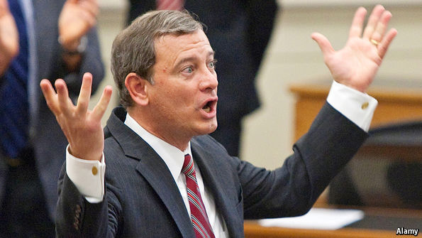 Chief Justice Roberts leans to the left