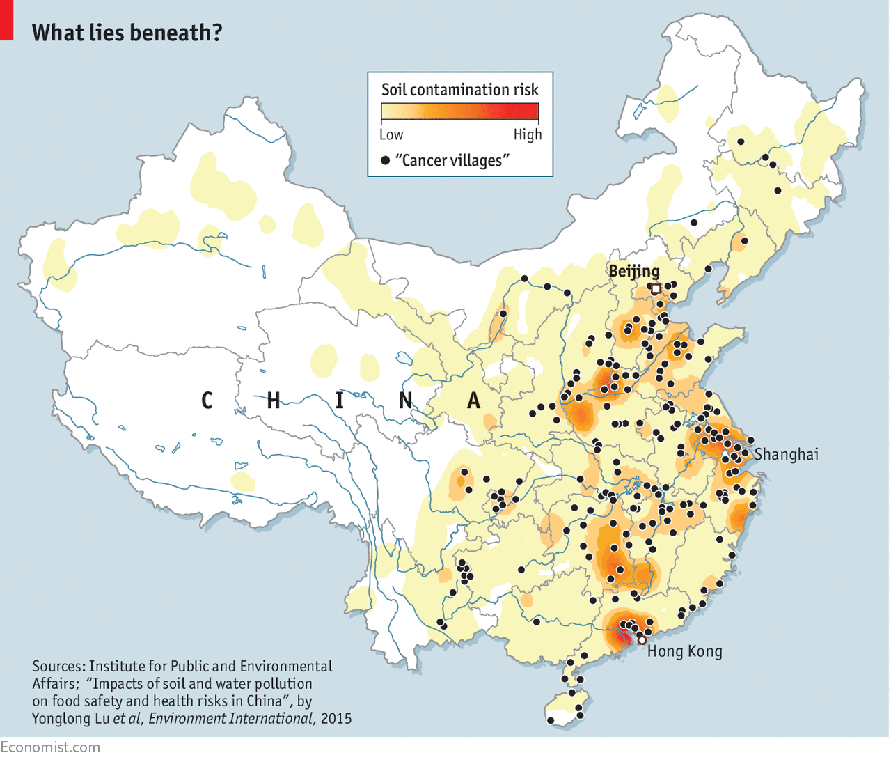 China S Soil Contamination Is So Great That It Cannot Adopt Such A Course See Map The Country Is Unusual In That It Not Only Has Many Brownfield Sites