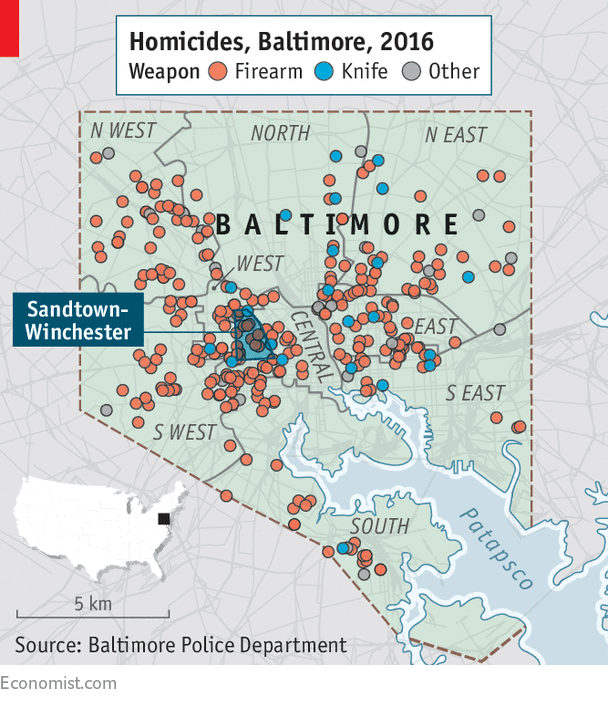 Crime and despair in Baltimore - An exceptionally murderous city on map of chicago bad neighborhoods, map of chicago red light districts, map of chicago traffic,