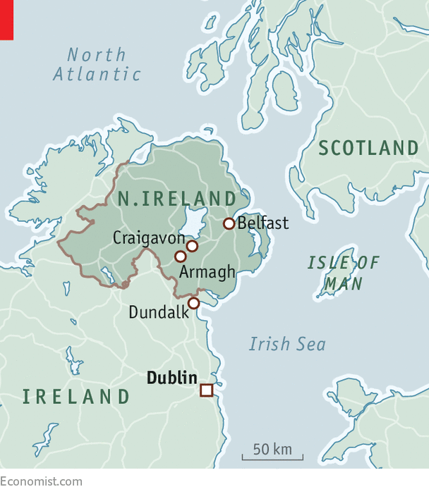 Ireland And Northern Ireland Map.How A Hard Irish Border Could Return Courtesy Of Brexit Brexit
