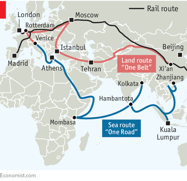 Image result for china one belt one road
