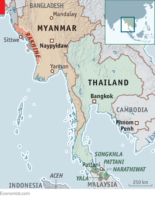 Pattani Thailand Map.Repression Is Feeding The Muslim Insurgency In Southern Thailand