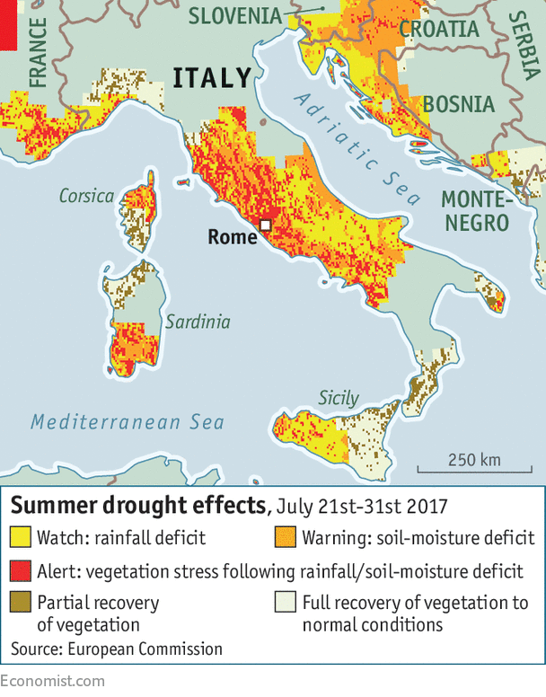 Explaining The Lack Of Rain In Spain And Italy Mediterranean Drought