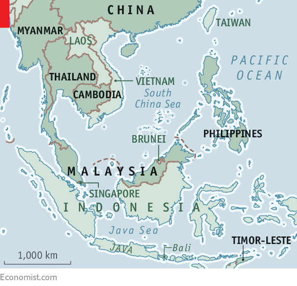 Southeast Asia Map Political.A Survey Of Power And Politics In South East Asia Beauty And The
