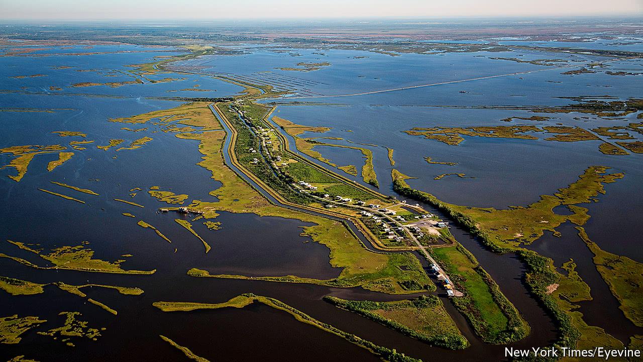 Louisiana fights the sea, and loses