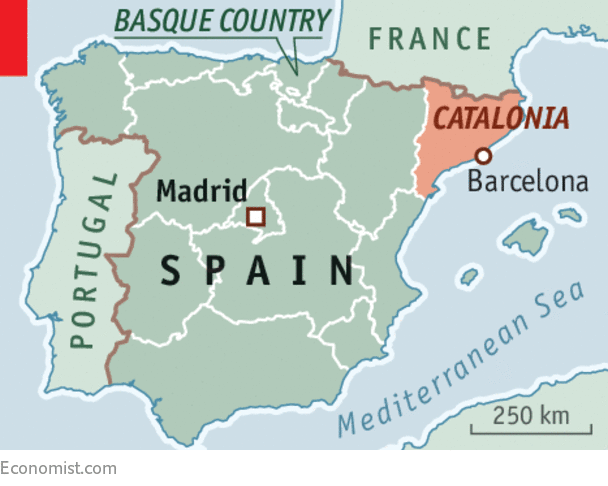 Catalunya Spain Map.Catalonia S Unconstitutional Means To An Undesirable End Spain S