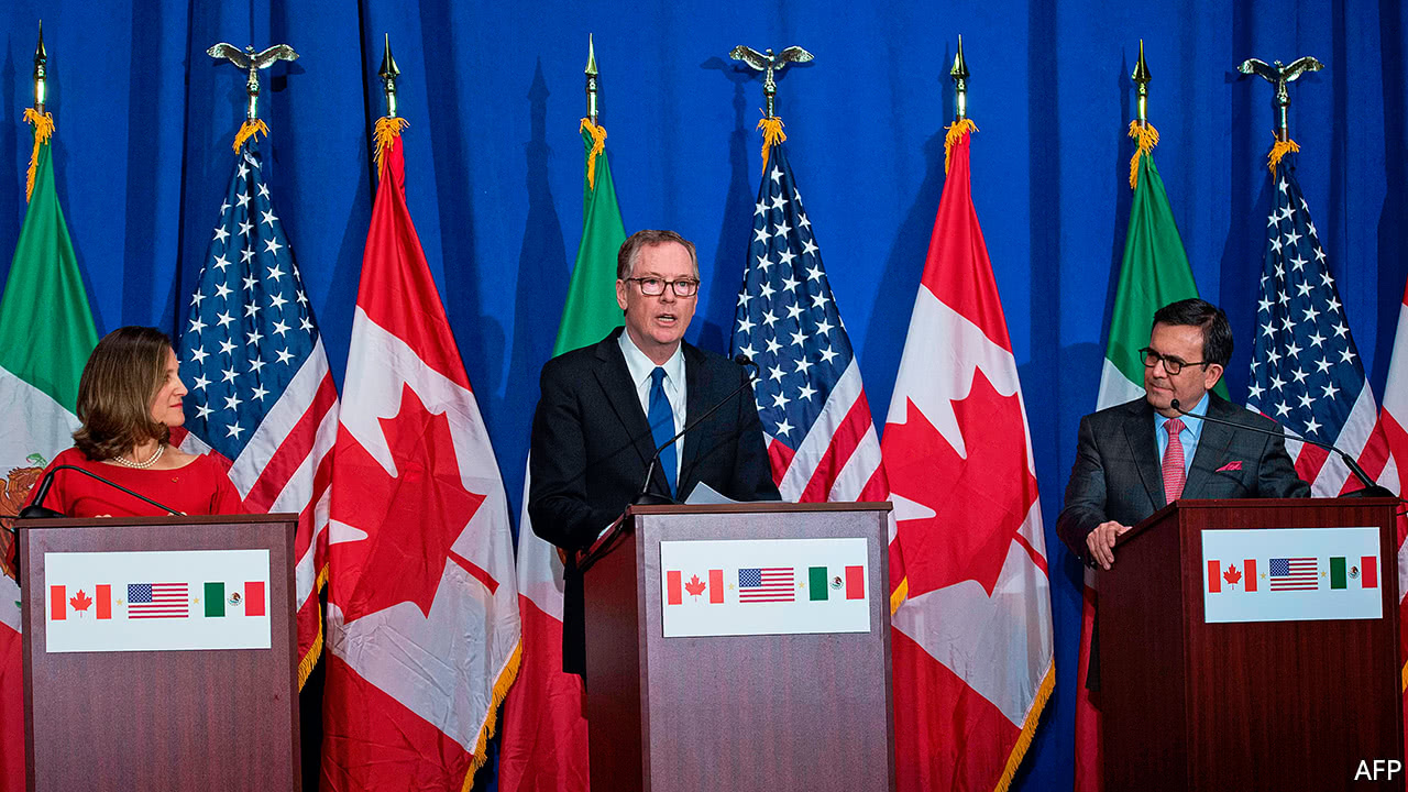 On NAFTA, America, Canada and Mexico are miles apart