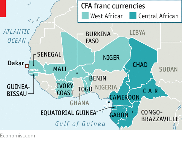 Over The Past 50 Years Inflation Has Averaged 6 In Ivory Coast Which Uses Cfa Franc And 29 Neighbouring Ghana Does Not