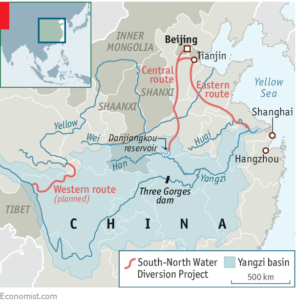 China has built the worlds largest water diversion project a it is the largest transfer of water between river basins in history and chinas freerunsca Images