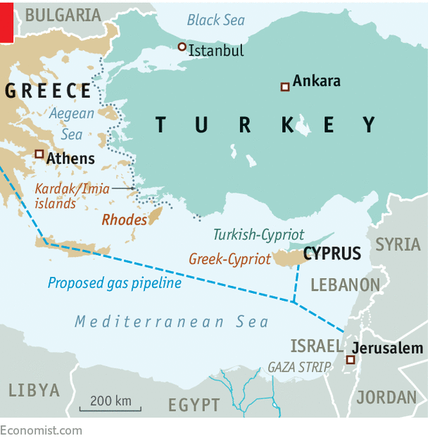 Turkey And Greece Map.Turkey And Greece Ratchet Up Tension In The Mediterranean Rough Seas