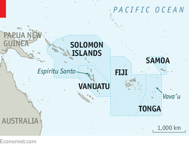 Australia And Pacific Map.Australia Is Edgy About China S Growing Presence On Its Doorstep