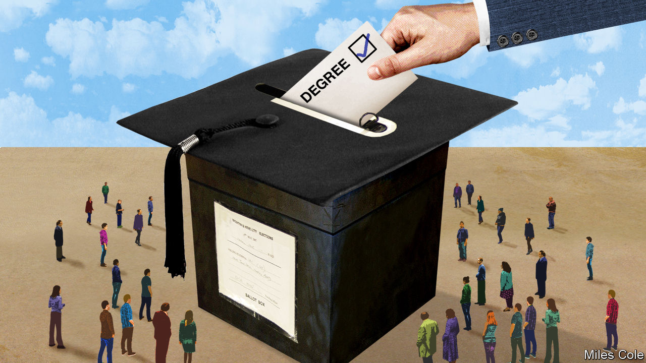 People without degrees are the most under-represented group