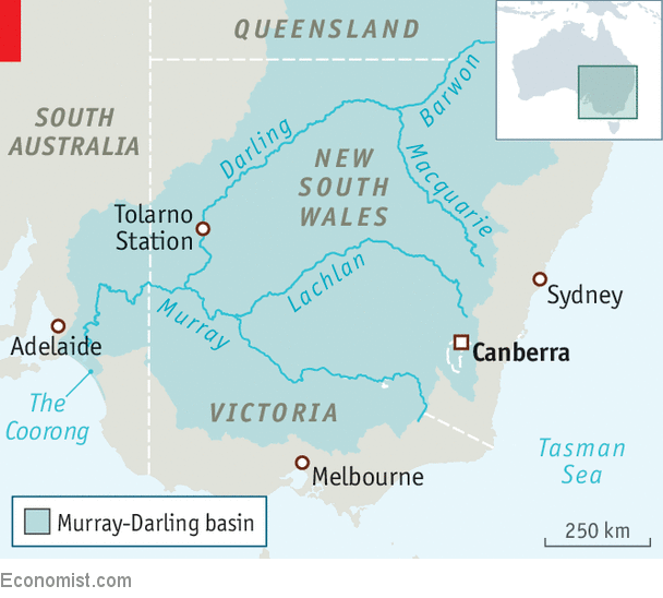 Australia Map Murray River.Australia S Biggest River Is Running Dry Despite Plans To Save It