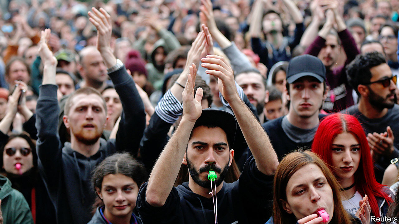 Young Georgians fight for their right to party