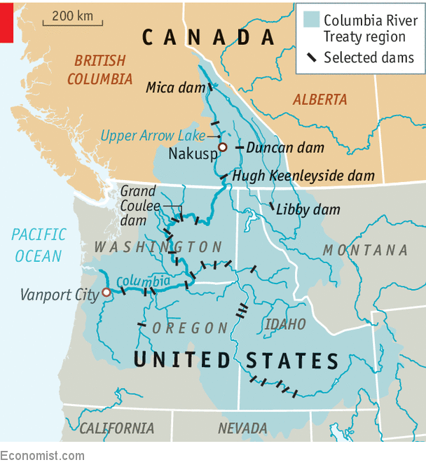 Columbia Canada Map.An Expiring Treaty Will Test The Health Of Canadian American
