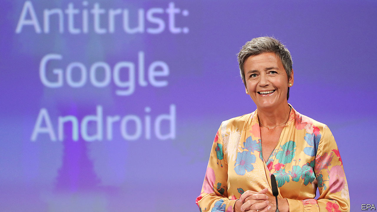 Google is fined €4.3bn in the biggest-ever antitrust penalty