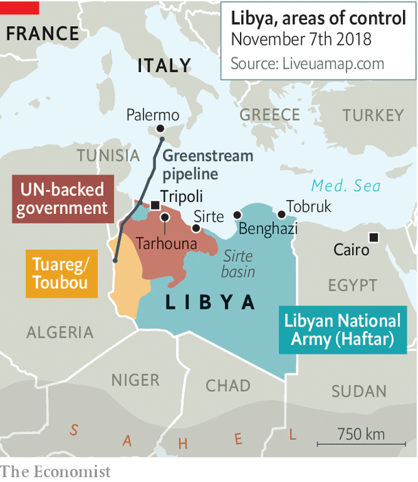 Libya To Italy Map.Libya S Feuds Cross The Mediterranean Too Many Cooks
