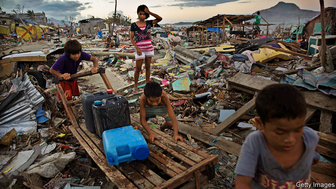 The Philippines wants big companies to accept responsibility for a devastating typhoon