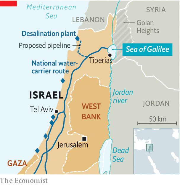 Jordan River Middle East Map.Can The Sea Of Galilee Be Saved Walking On Desalinated Water