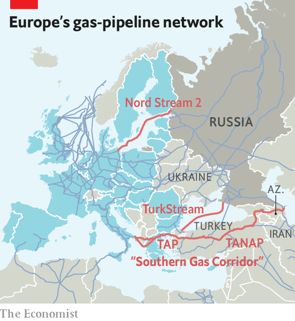 Map Of Germany And Russia.A Plan To Reduce Europe S Dependence On Russian Gas Looks Shaky