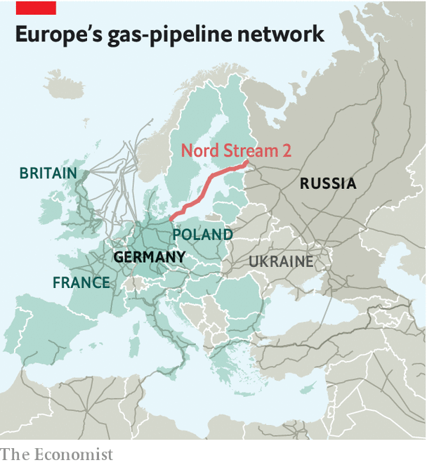 Map Of Germany And Russia.The Nord Stream 2 Gas Pipeline Moves On Paying The Piper