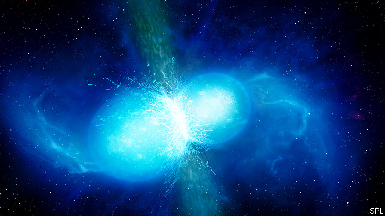 A lot of the periodic table is a result of neutron stars colliding